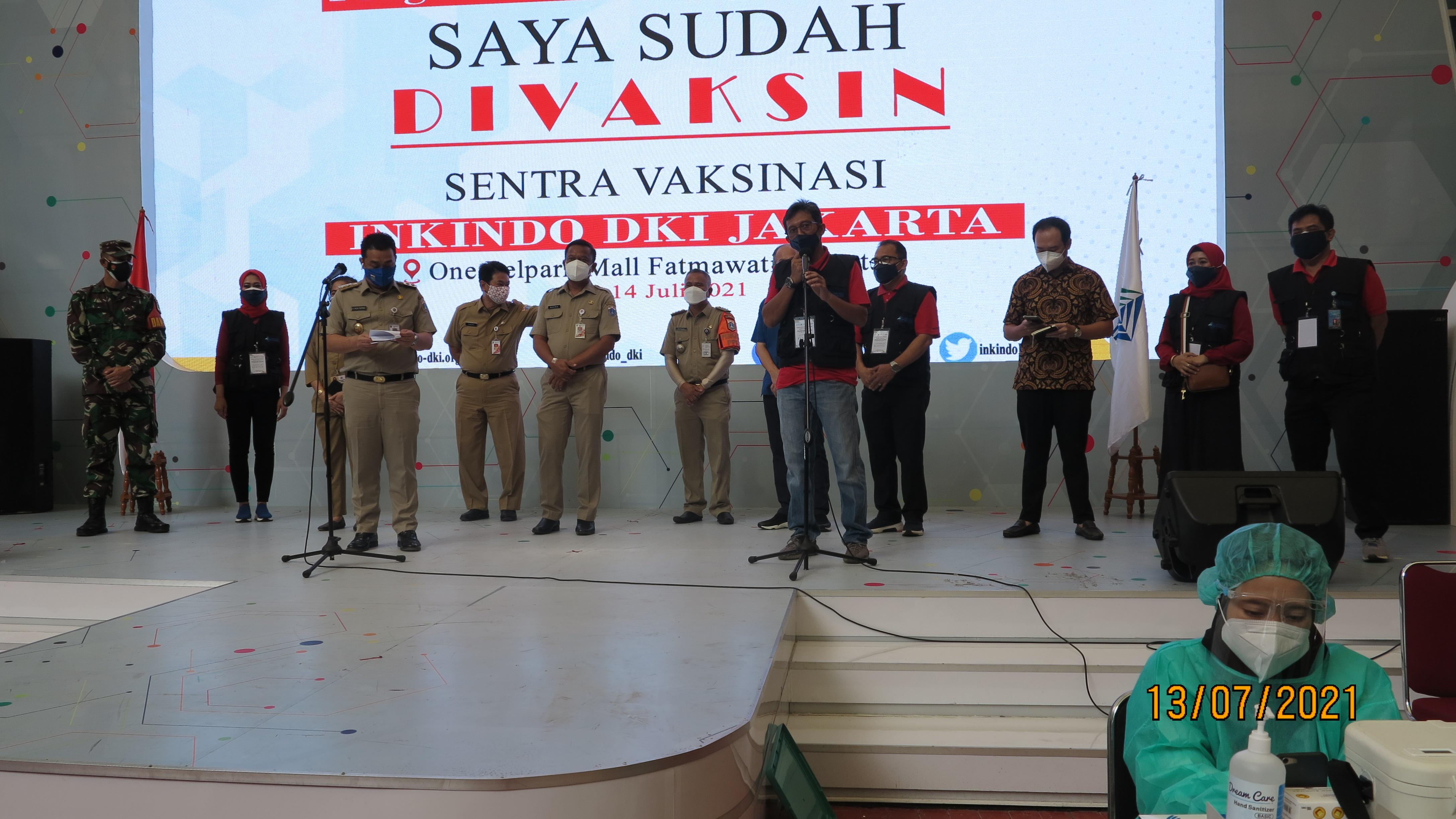 INKINDO DKI Jakarta Gelar Sentra Vaksinasi Massal Tahap 1  sebanyak 1000 orang <h6>13-14 Juli 2021</h6>