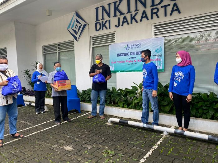 Inkindo Jakarta Donasikan Ribuan Masker & Sembako ke Anak Yatim