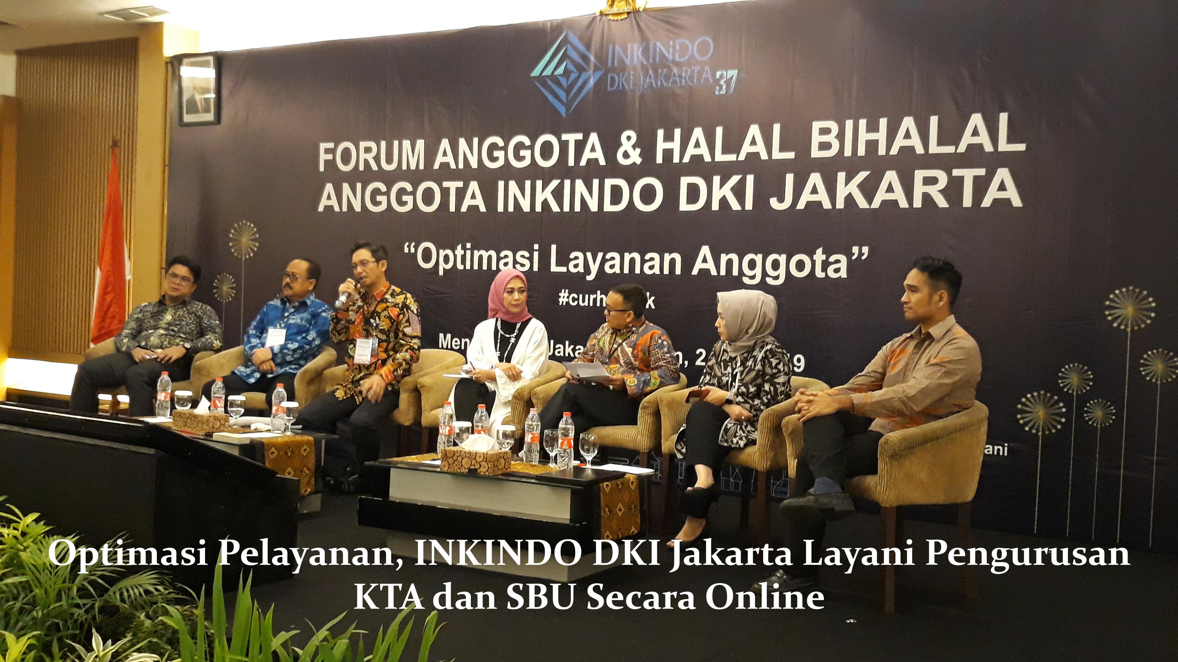 Optimasi Pelayanan, INKINDO DKI Jakarta Layani Pengurusan KTA dan SBU Secara Online