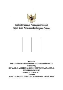 Rancangan Rencana Kerja Pemerintah Tahun 2022