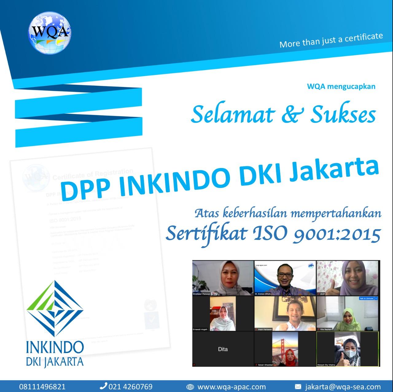 Sertifikat ISO WQA 9001:2015